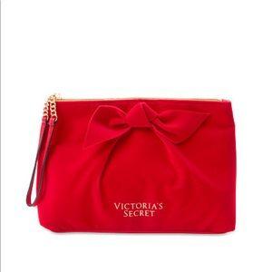 Victoria's Secret Velvet Cosmetic Wristlet